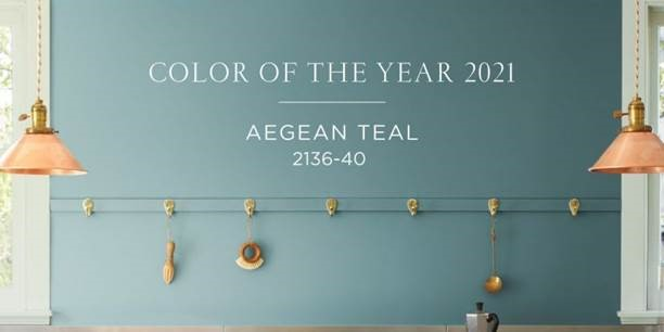 Color of the year 2021 is Aegean Teal