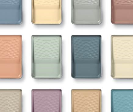 Image of different paint trays